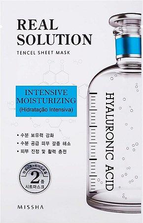 MISSHA Real Solution Tencel Sheet Mask Intensive Moisturizing - Hidratação Intensiva