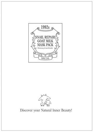 ACACI Máscara Facial Snail Repair Goat Milk