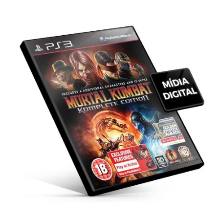 Mortal Kombat Komplete Edition - PS3 Mídia Digital