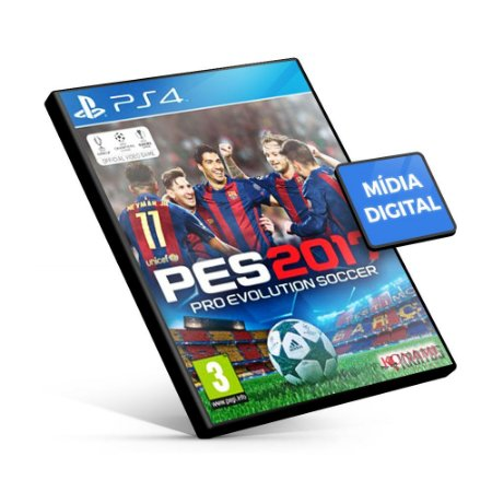 PES Pro Evolution Soccer 2017 - PS4 Mídia Digital
