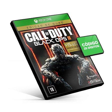 Call of Duty Black Ops 3 Edição de Ouro - Xbox One - Código 25 Dígitos