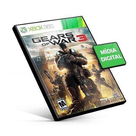 Gears of War 3 - Xbox 360 - Código 25 Dígitos