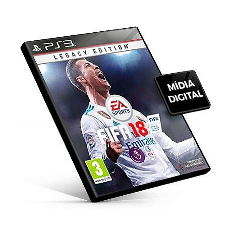 Fifa 18 Legacy Edition - PS3 Mídia Digital -  Português