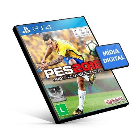 PES Pro Evolution Soccer 2018 - PS4 Mídia Digital