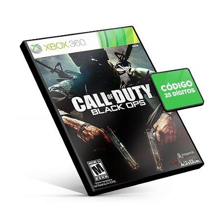 Call Of Duty Black Ops - Xbox 360 - Código 25 Dígitos