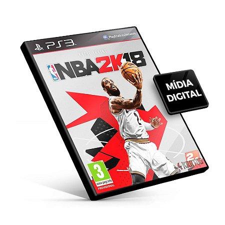 NBA 2K18 - PS3 Mídia Digital