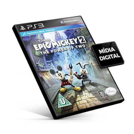 Disney Epic Mickey 2 The Power of Two - PS3 Mídia Digital