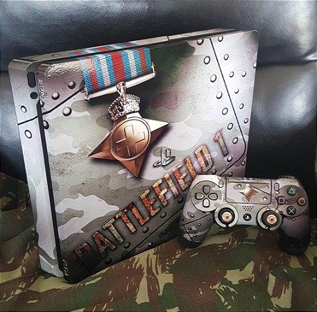 Skin Adesiva para PlayStation 4 - Battlefield 1 + 2 Adesivos Light Bar