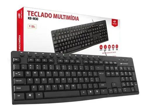 TECLADO USB KB-11BK PRETO C3TECH - P1