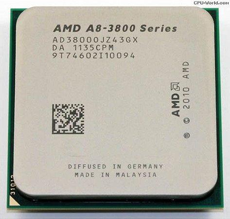 SN - PROCESSADOR FM1 AMD A8-3870 3.00GHZ QUAD C