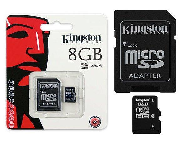 CARTÃO MEMORIA MICRO SD 8 GB KINGSTON