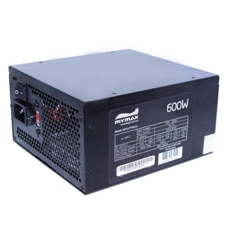 FONTE ATX 600W 24 PINOS 2 SATA HIGH POWER MYMAX
