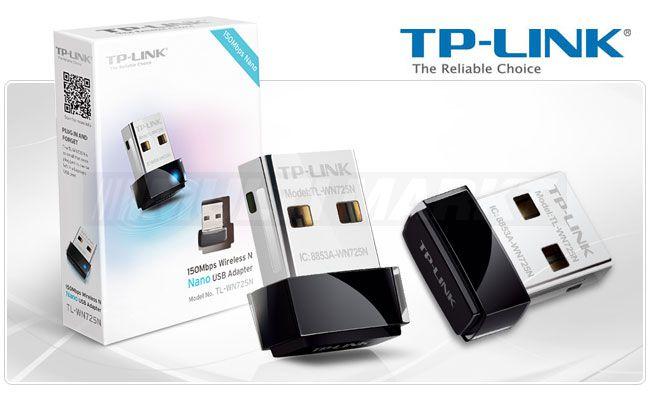 ADAPTADOR WIRELESS USB 150MBPS TL-WN725N TPLINK
