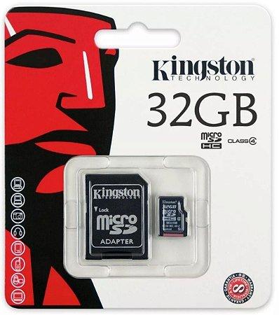 CARTÃO MEMORIA MICRO SD 32GB KINGSTON - P