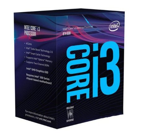 PROC. CORE I3-8100 3.6GHZ 6MB BOX INTEL 1151