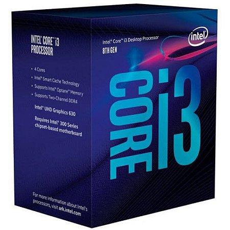 PROC. CORE I3-8100 3.6GHZ 6MB BOX INTEL 1151 - P