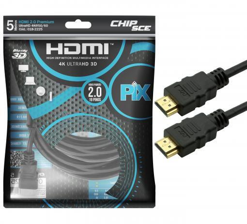 CABO HDMI 5M 4K ULTRAHD PIX