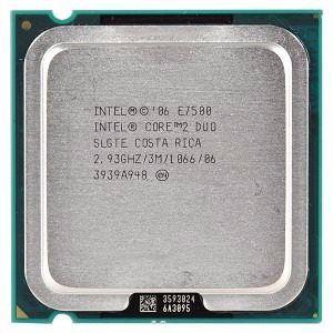 SN - PROCESSADOR 775 INTEL C2D 2.93GHZ E7500