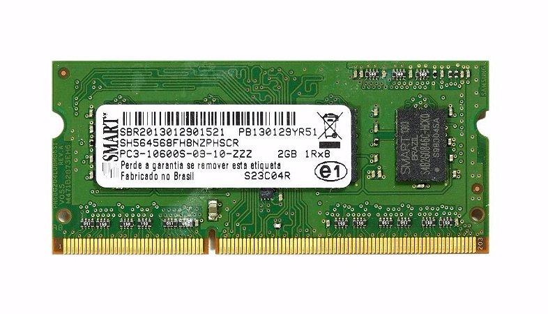 SN - MEMORIA NOTE DDR3 2GB 1333 MHZ SMART