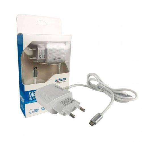 CARREGADOR USB TOMADA 2S 2.1A EXBOM