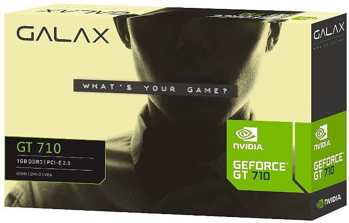 PLACA VIDEO DDR3 1GB 64 BITS GT 710 GALAX