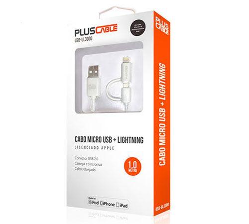 CABO USB DADOS + LIGHTNING