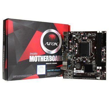 PLACA MAE 1155 AFOX IH61-MA5 DDR3 - P
