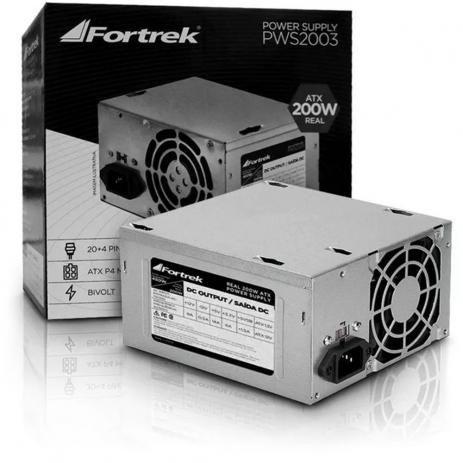 FONTE ATX 200W FORTREK 20+4P S/CABO