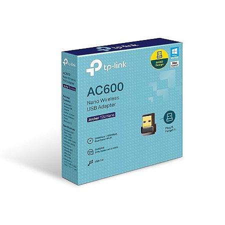 ADAPTADOR WIRELESS USB DB ARCHER T2U AC600 TPLINK