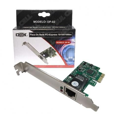 PLACA REDE PCI-E 100/1000MBPS DP-02 DEX