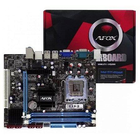 PLACA MAE 775 AFOX IG41-MA7-V3 DDR3
