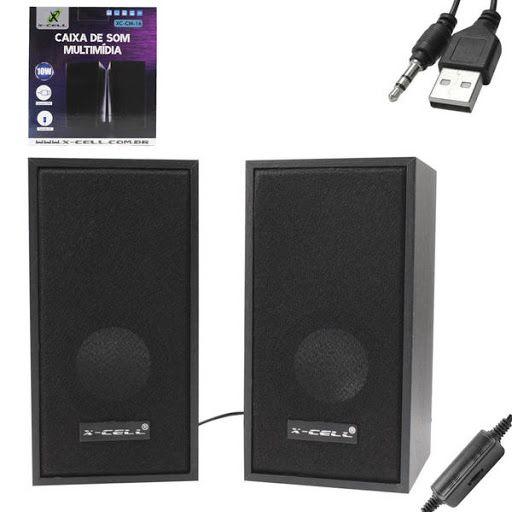 CAIXA SOM USB 10W XC-CM-16 PRETO X-CELL