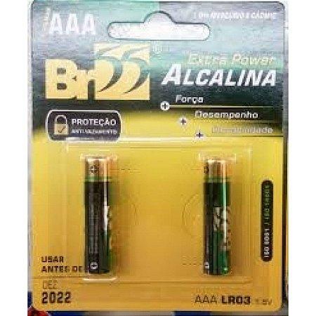 PILHA ALCALINA AAA C/2 BR