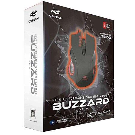 MOUSE USB GAMER C3-TECH BUZZARD MG-110BK - P