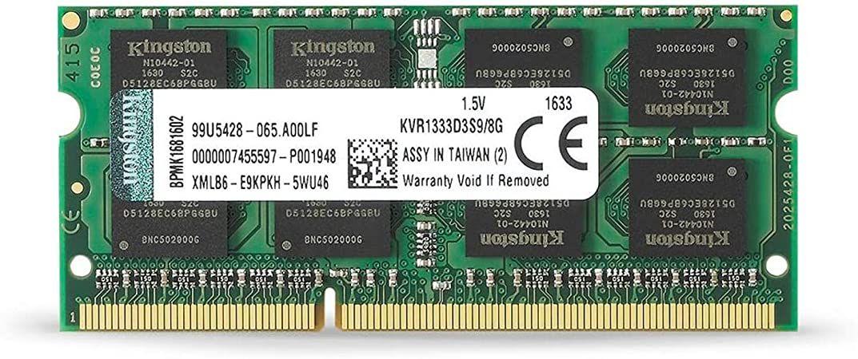 SN - MEMORIA NOTE DDR3 8GB 1333MHZ KINGSTON