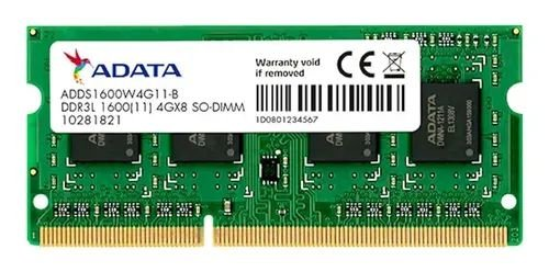 SN - MEMORIA NOTE DDR3 1GB 1333 MHZ ADATA