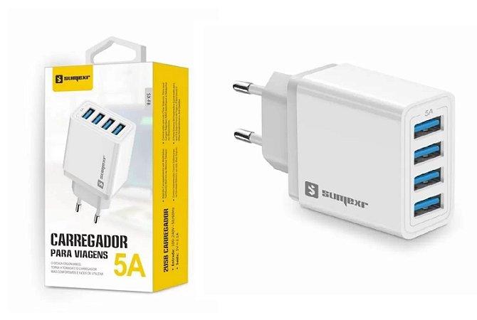 CARREGADOR USB 5(A) + CABO TIPO C SX-F8-V8