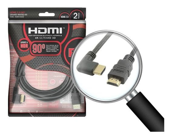 CABO HDMI 2M 2.0 4K 90°