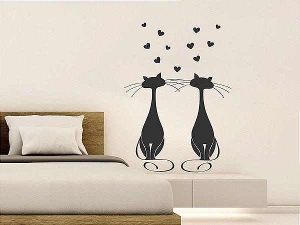 Adesivo de parede - Gatos Apaixonados