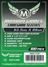 Sleeves MayDay Games 63,5 X 88 MM – (PADRÃO) - 100 Unidades