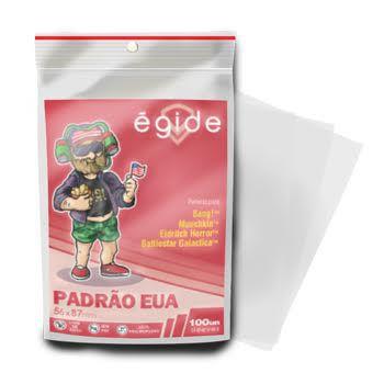 Sleeves Egide 56 x 87 MM - (PADRÃO USA) - 100 Unidades