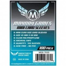 Sleeves MayDay Games 45 X 68 MM – (MINI EURO) - 100 Unidades