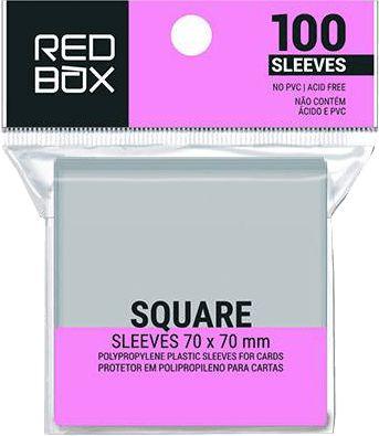 Sleeves RedBox 70 X 70 MM – (QUADRADO) - 100 Unidades