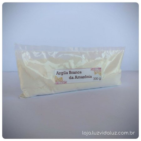 ARGILA BRANCA DA AMAZÔNIA 200 g