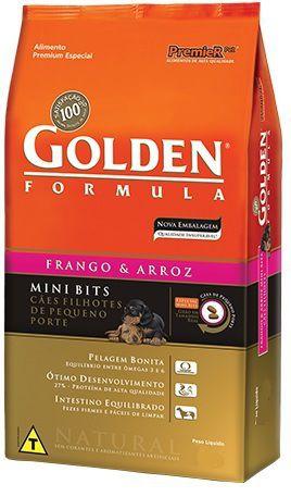 Golden Frango & Arroz Cães Filhotes Mini Bits 3kg
