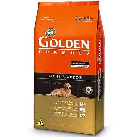 Golden Carne & Arroz Cães Adultos 3kg