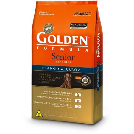 Golden Senior Frango & Arroz Mini Bits 10kg