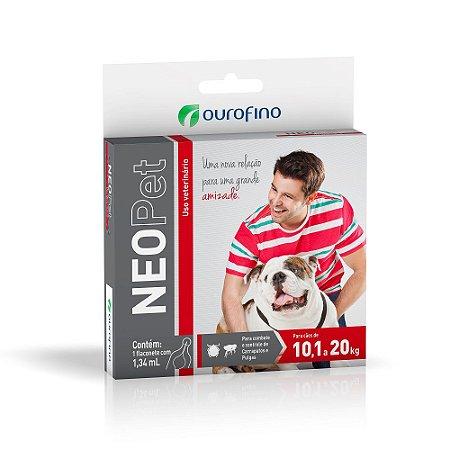 Antipulgas e Carrapatos Neopet 1,34ml Cães 10,01 a 20Kg