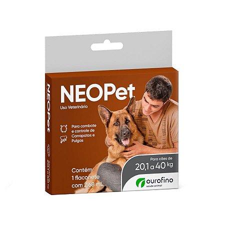Antipulgas e Carrapatos Neopet 2,68ml Cães 20,01 a 40Kg