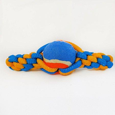 Brinquedo Mordedor Cachorro Corda Pet Bola Tênis Cães DOG002